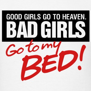 Bad Girls 2 My Bed 2 (2c)++ Hoodies - Men's T-Shirt
