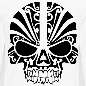 Tribal Skull HD Vector T-Shirts - Men's Premium Long Sleeve T-Shirt