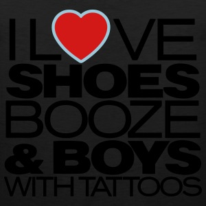 I LOVE SHOES BOOZE & BOYS WITH TATTOOS - Men's Premium Tank