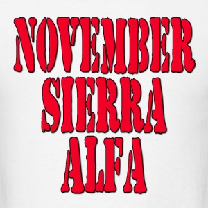 NSA November Sierra Alfa / No Strings Attached Hoodies - Men's T-Shirt