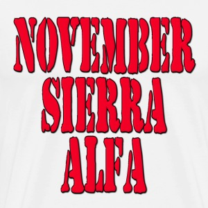 NSA November Sierra Alfa / No Strings Attached Hoodies - Men's Premium T-Shirt