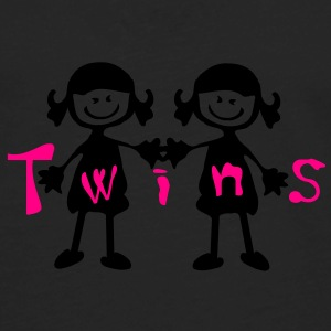 Twin girls Baby Lap Shoulder T-Shirt - Men's Premium Long Sleeve T-Shirt