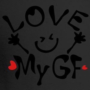 Love My GF Men's V-Neck T-Shirt by Canvas - Trucker Cap