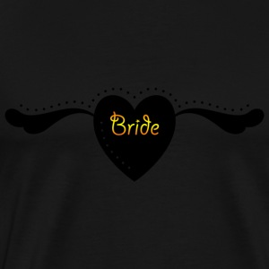 Bride Pride - Heart and Wings  Text Graphic Cool Design for Bachelorette Parties, Hen Party, Stag and Does, Bridal Party and Wedding Showers Long Sleeve Shirts - Men's Premium T-Shirt