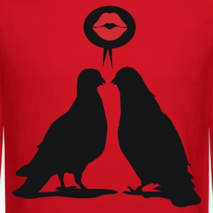 Kiss saying  Doves - Two Valentine Birds_2c Women's T-Shirts - Crewneck Sweatshirt