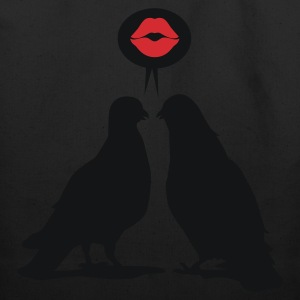 Kiss saying  Doves - Two Valentine Birds_2c T-Shirts - Eco-Friendly Cotton Tote