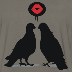 Kiss saying  Doves - Two Valentine Birds_3c T-Shirts - Men's Premium Long Sleeve T-Shirt