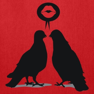 Kiss saying  Doves - Two Valentine Birds_3c T-Shirts - Tote Bag
