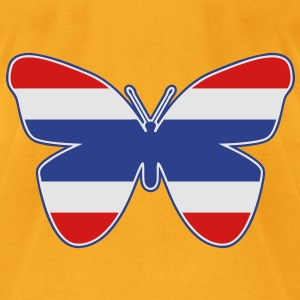 Thai Butterfly Flag Silhouette - Men's T-Shirt by American Apparel