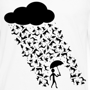Raining Cats And Dogs Tee - Men's Premium Long Sleeve T-Shirt