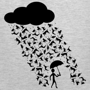 raining cats and dogs Long Sleeve Shirts - Men's Premium Tank
