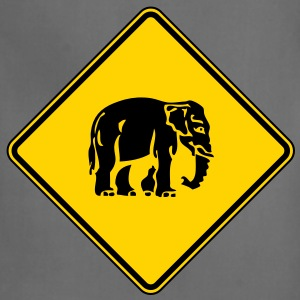 Caution Elephant Crossing Sign - Adjustable Apron