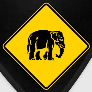 Caution Elephant Crossing Sign - Bandana