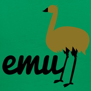 long legged emu with the word Hoodies - Men's Premium T-Shirt