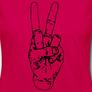 Peace / Fuck Off Hoodies - Women's Premium Long Sleeve T-Shirt