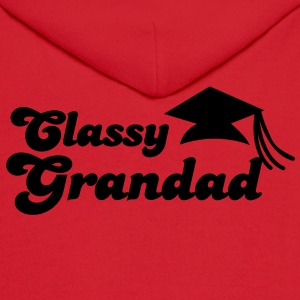 CLASSY GRANDAD with mortar board graduation Long Sleeve Shirts - Men's Hoodie