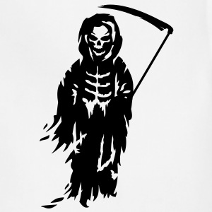 A Grim Reaper - Death with a scythe Long Sleeve Shirts - Adjustable Apron