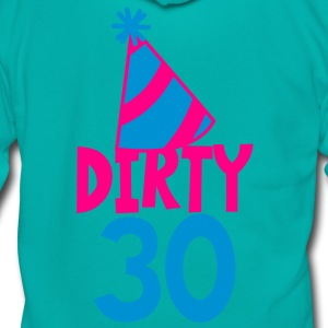 BIRTHDAY 30 DIRTY THIRTY with a party HAT Women's T-Shirts - Unisex Fleece Zip Hoodie by American Apparel