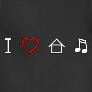 I Love House Music T-Shirts - Adjustable Apron