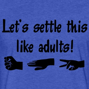 Let's settle this like adults! Rock-paper-scissors Sweatshirts - Fitted Cotton/Poly T-Shirt by Next Level