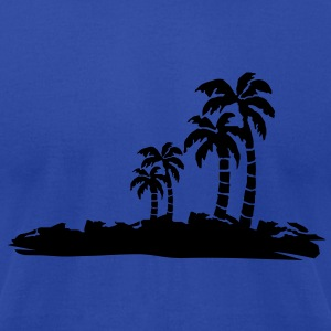 darrpalmtrees02 Tanks - Men's T-Shirt by American Apparel