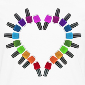 Nail Polish Heart - Men's Premium Long Sleeve T-Shirt