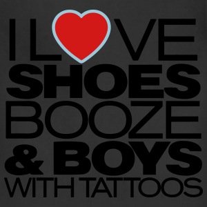 I LOVE SHOES BOOZE & BOYS WITH TATTOOS - Adjustable Apron
