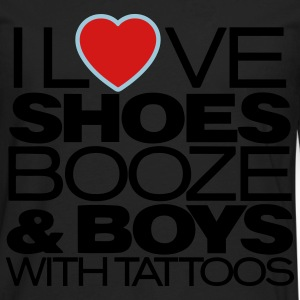 I LOVE SHOES BOOZE & BOYS WITH TATTOOS - Men's Premium Long Sleeve T-Shirt