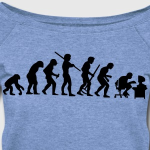 De-evolution - VECTOR T-Shirts - Women's Wideneck Sweatshirt