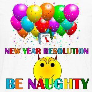 resolution be naughty - Men's Premium Long Sleeve T-Shirt