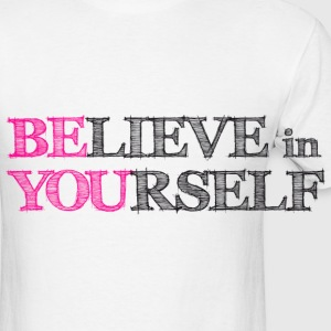 BElieve in YOUrself Buttons - Men's T-Shirt