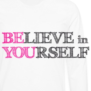 BElieve in YOUrself Buttons - Men's Premium Long Sleeve T-Shirt