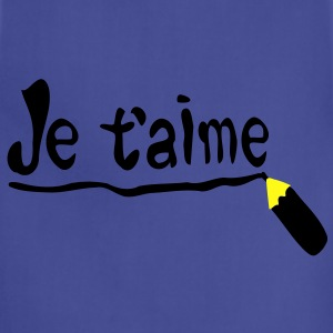 Je t'aime Women's Standard Weight T-Shirt - Adjustable Apron