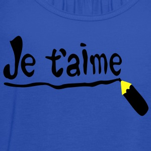 Je t'aime Women's Standard Weight T-Shirt - Women's Flowy Tank Top by Bella