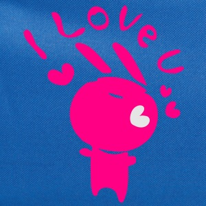 I love u blue bunny Baby Lap Shoulder T-Shirt - Computer Backpack