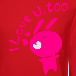 I love u,too txt cute bunny Women's Slim Fit T-Shirt by American Apparel - Crewneck Sweatshirt