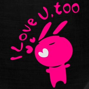 I love u,too txt cute bunny Women's Slim Fit T-Shirt by American Apparel - Bandana