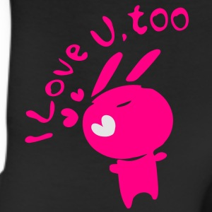 I love u,too txt cute bunny Women's Slim Fit T-Shirt by American Apparel - Leggings