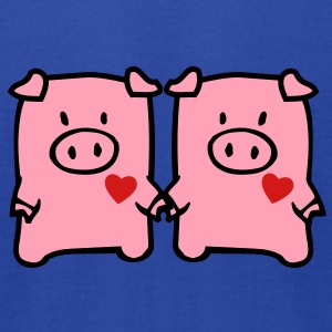 oinkoink - cute pigs Tanks - Men's T-Shirt by American Apparel