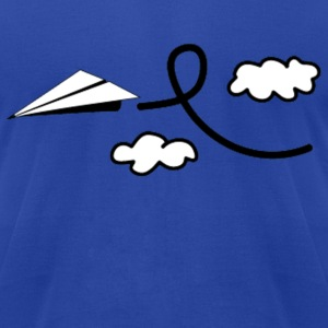 Paper Airplane Hoodies - Men's T-Shirt by American Apparel