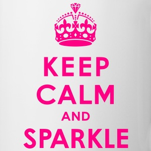 Keep Calm and Sparkle Women's T-Shirts - Coffee/Tea Mug