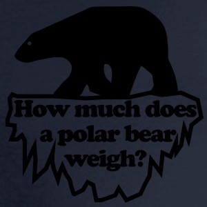 How much does a polar bear weigh? Women's T-Shirts - Men's Long Sleeve T-Shirt