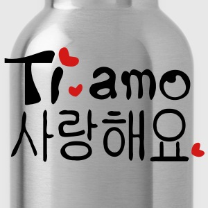 Love you in Korean & Italian Women's Scoop Neck T-Shirt - Water Bottle