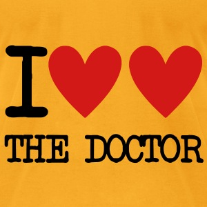 I Heart The Doctor Bags  - Men's T-Shirt by American Apparel