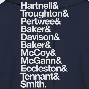 Doctor Who Actors' Last Names White T-Shirts - Men's Hoodie