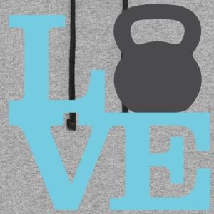 Love Kettlebells - AMRAP Style Women's T-Shirts - Colorblock Hoodie