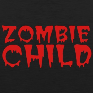 zombie child with bloody font red Baby Bodysuits - Men's Premium Tank