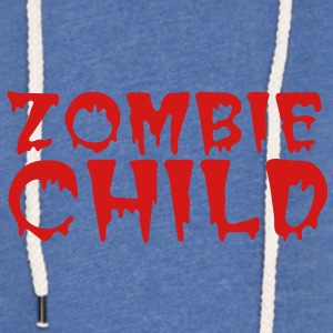 zombie child with bloody font red Baby Bodysuits - Unisex Lightweight Terry Hoodie