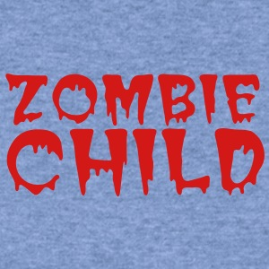 zombie child with bloody font red Baby Bodysuits - Women's Wideneck Sweatshirt