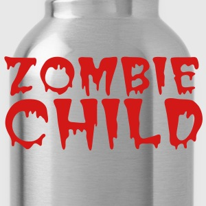 zombie child with bloody font red Baby Bodysuits - Water Bottle